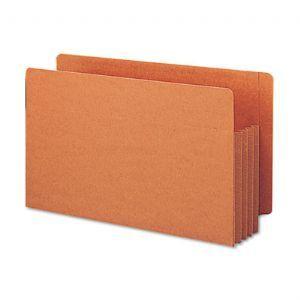 3 1/2 Accordion Expansion File TUFF Pockets, Straight, Legal, Redrope, 10/Box