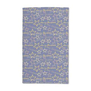 Merry Christmas Blue Hand Towel   19412019   Shopping