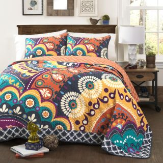 Lush Decor Maya 3 Piece Cotton Quilt Set   17880258