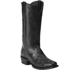 Womens Ariat Ardent Mid Heel Boot   Black Leather