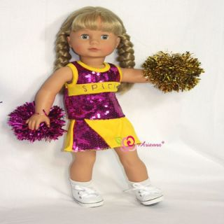 Arianna Got Spirit Cheerleader Outfit for 18 American Girl Doll