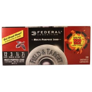 Federal Ammunition 12 Gauge 3 DRAM, 100ct