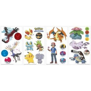 RoomMates 5 in. x 11.5 in. Pokemon XY Peel and Stick Wall Decal RMK2625SCS