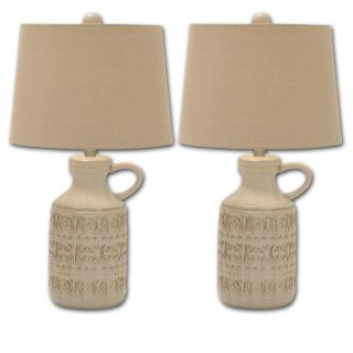 Casa Cortes French Architecture Antiqued 34 inch Table Lamp (Set of 2)