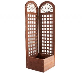 Merry Products Wooden Trellis Screen and Planter System —