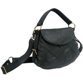 Marco Avane Soft Leather Patchwork Top Handle Bag in Black