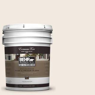 BEHR Premium Plus Ultra 5 gal. #W F 210 Nude Flat Exterior Paint 485005