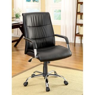 Blake High Back Leatherette Executive Chair with Arms by Hokku Designs