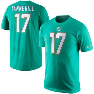 Ryan Tannehill Miami Dolphins Nike Player Name & Number T Shirt   Aqua