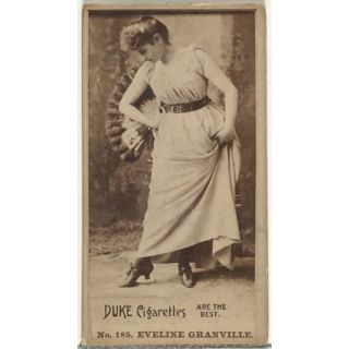 Card Number 185 Eveline Granville from the Actors and Actresses series (N145 6) issued by Duke Sons & Co. to promote Duke Cigarettes Poster Print (18 x 24)