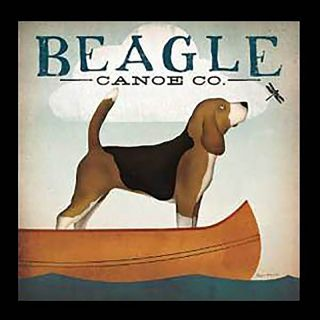 Buy Art For Less Beagle Canoe Company by Ryan Fowler Framed Vintage