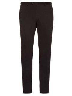 Montana slim leg cotton blend chino trousers  Brioni US