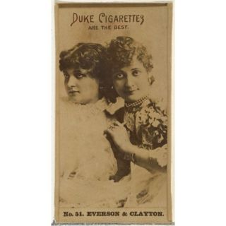 Card Number 51, Everson & Clayton, from the Actors and Actresses series (N145 6) issued by Duke Sons & Co. to promote Duke Cigarettes Poster Print (18 x 24)