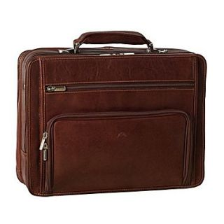 Tony Perotti Green CUltimo Leather Laptop Briefcase; Brown