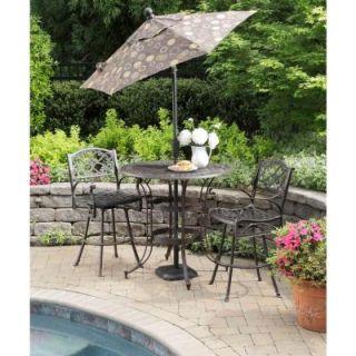 Home Styles Biscayne Bronze 3 Piece Round Patio Bistro Set DISCONTINUED 5555 359