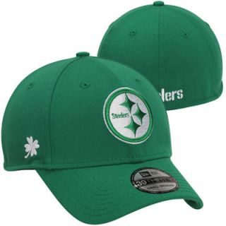 New Era Pittsburgh Steelers St. Patricks Day Graf Pop 39THIRTY Flex Hat   Kelly Green