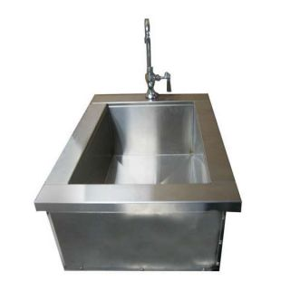 Outdoor Living Collection 40 I S1524 DI Sink Ice Storage with Condiment Holder And Cover
