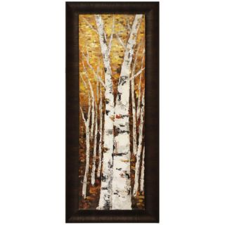 Birch Panel II by Tina O. Framed Painting by Hobbitholeco.