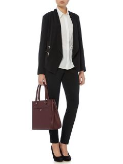 Linea Sarah zip detail soft tailored jacket Black