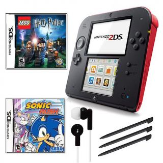 Nintendo 2DS Red Bundle with Harry Potter and Sonic Rush Games and Accessories   7308914