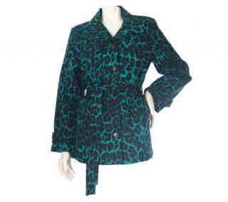 Linea by Louis DellOlio Stretch Cotton Leopard Print Jacket —