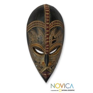 Handcrafted Sese Wood My Beautiful Lover African Mask (Ghana