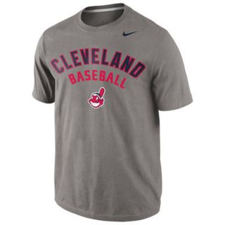 Cleveland Indians Nike Away Practice T Shirt   Gray