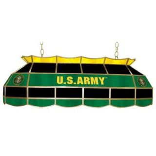 Trademark Global United States Army Symbol 3 Light Stained Glass Hanging Tiffany Lamp ARMY4000 SYM