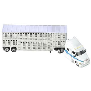 Fast Lane 1:43 Scale Might Haulers   Peterbilt 387 Tractor Trailer with Livestock Hauler    Toys R Us