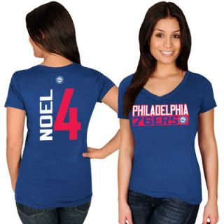 Nerlens Noel Philadelphia 76ers Majestic Womens Name & Number V Neck T Shirt   Royal