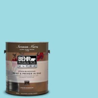 BEHR Premium Plus Ultra 1 gal. #P470 2 Serene Thought Matte Interior Paint 175001