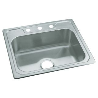Middleton 25 x 22 Self Rimming Single Bowl Kitchen Sink by Sterling