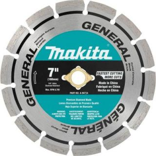 Makita 7 in. Segmented Rim General Purpose Diamond Blade A 94714