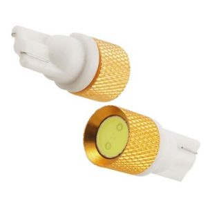 2 Pcs Auto T10 1W White LED Dashboard Instrument Lamp Light Bulbs