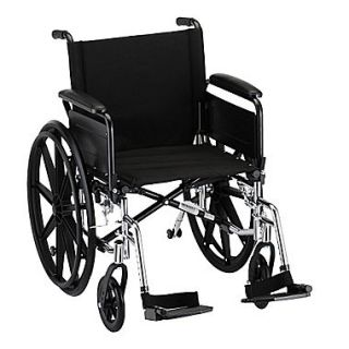 Nova Medical Products Lightweight Wheelchair with Full Arms and Footrests 20