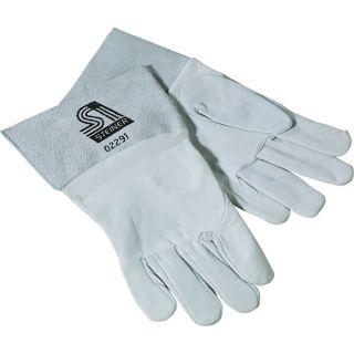Steiner TIG Welding Gloves — Grain goatskin, Sensi-TIG, Gray, Large, Pair, Model# 0229-L  Welding Gloves