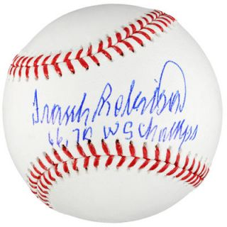 Frank Robinson Baltimore Orioles  Authentic Autographed Baseball with 66, 70 WS Champs Inscription