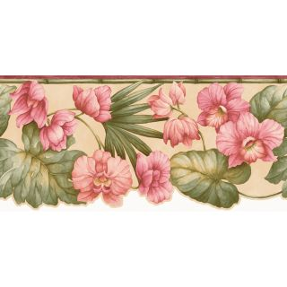 allen + roth 9 in Red Prepasted Wallpaper Border