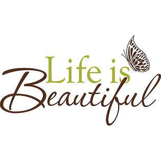 WallPops Life Is Beaut Wall Quote   Home   Home Decor   Wall Decor