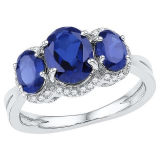 10 CT. T.W. Oval Lab Created Sapphire Prong Set Fashion Ring in 10K