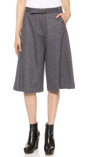 Derek Lam Belt Front Wide Leg Shorts