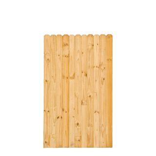 Severe Weather Pressure Treated Pine Semi Privacy Fence Gate (Common: 6 ft x 3.6 ft; Actual: 6 ft x 3.6 ft)
