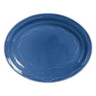 China Blueberry Cantina Carved Platter 13.62 x 10.62