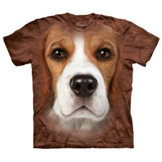 Beagle Face Adult T Shirt by The Mountain   10 3330