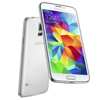 SamsungGalaxy S5 SM G900H Shimmery White 5.1 Inch Touch Screen Mobile Phone w/ 16.0 MP Camera