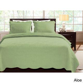 Serenity 100 percent Cotton Oversized 3 piece Quilt Set