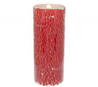 As Is Solare Mosaic 8 Flameless Candle with Multi Hue Flame —