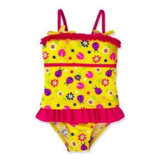 Jump'N Splash Little Girls Ladybug Skirt One Piece UV Swimsuit Accessories Set 4
