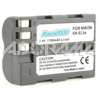 Power2000 EN EL3E Replacement Li Ion Battery 7.4V ACD 281