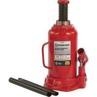 Strongway Hydraulic Bottle Jack — 20-Ton Capacity, 9 1/2in.–17 3/4in. Lift Range  Bottle Jacks